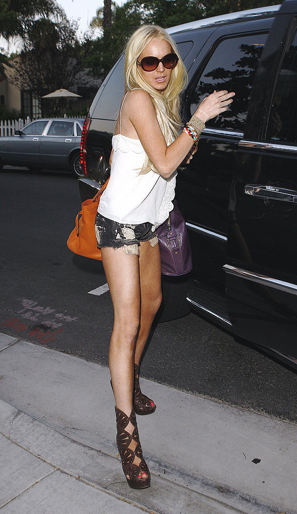 Photos of Lindsay Lohan in Three Outfits
