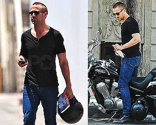Photos of Ryan Gosling on His Motorcycle Looking Hot