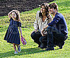Slide Photo of Tom Cruise, Katie Holmes, and Suri Cruise in an Australian Park