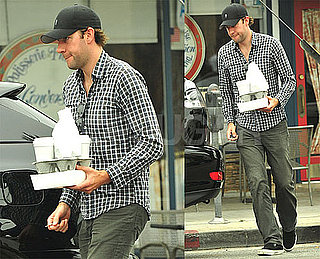 Photos of John Krasinski Getting Coffee in LA