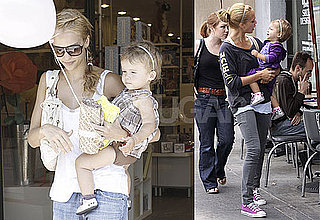 Photos of Jessica Alba, Who's in the Final Two of the 2009 PopSugar Bikini Bracket, With Daughter Honor at LA's Bel Bambini