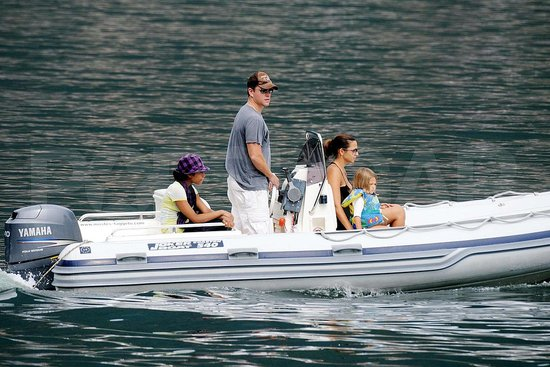 Photos of Matt Damon and His Family in Lake Como