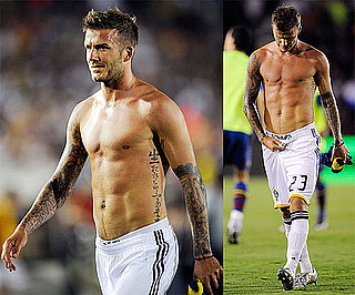 Photos of David Beckham Playing Shirtless With The LA Galaxy