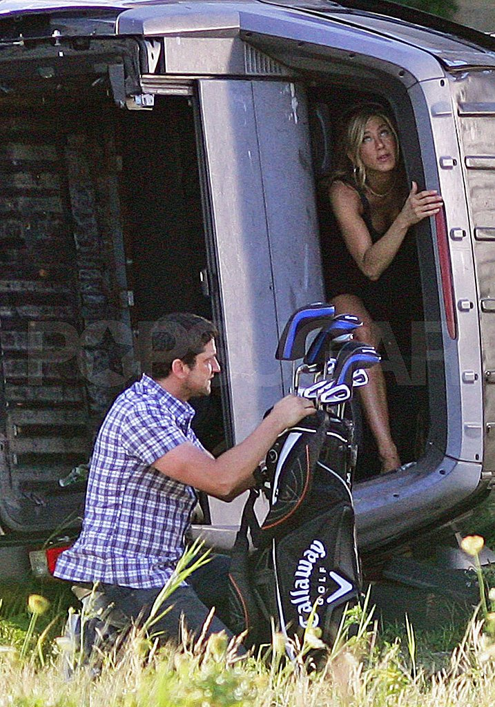 Photos of Jennifer Aniston on Set