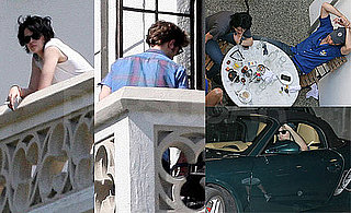 Photos of Kristen Stewart and Robert Pattinson on a Balcony at the Chateau Marmont