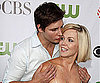Slide Photo of Peter Facinelli Kissing Jennie Garth at the TCAs