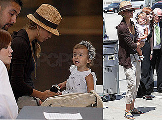 Photos of Jessica Alba and Honor Warren at LAX