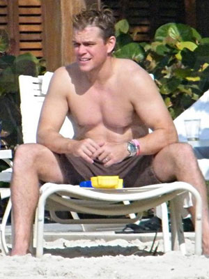 matt damon photos of shirtless celebrity males popsugar celebrity