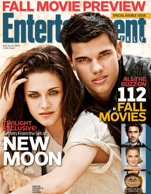 Photo and Video of Kristen Stewart and Taylor Lautner Talking About New Moon For Entertainment Weekly