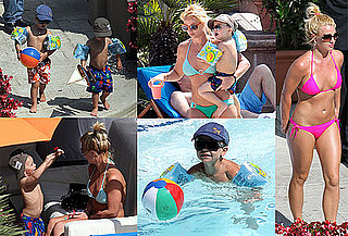 Photos of Britney Spears in a Pink Bikini With a Big Ring