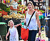 Slide Photo of Jennifer Garner and Violet Affleck at Farmers Market