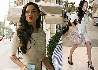 Photos of Megan Fox in Little White Dress in LA