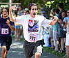 Slide Photo of Jake Gyllenhaal Running 5k Race