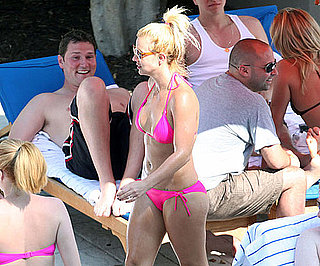 Photo Slide of Britney Spears in a Pink Bikini
