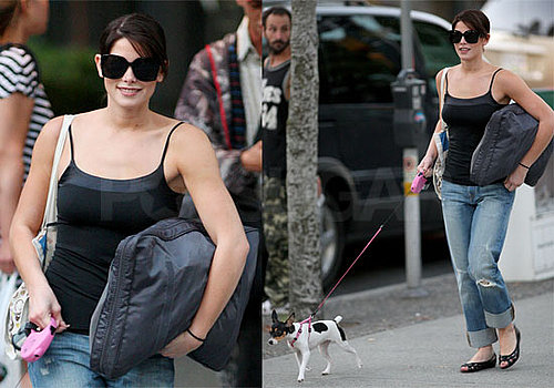 Photos of Twilight's Ashley Greene Walking Her Dog in Vancouver