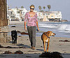 Slide Photo of Charlize Theron Walking Her Dogs in Malibu