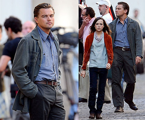 Photos of Leonardo DiCaprio, Ellen Page Filming Inception