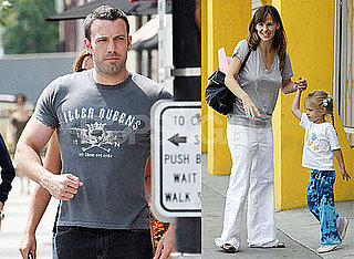 Photos of Ben Affleck in Boston, Jennifer Garner and Violet in LA