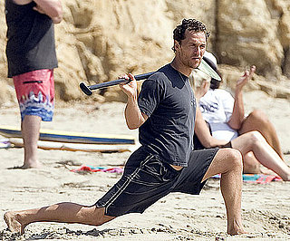 Photo Slide of Matthew McConaughey at the Beach