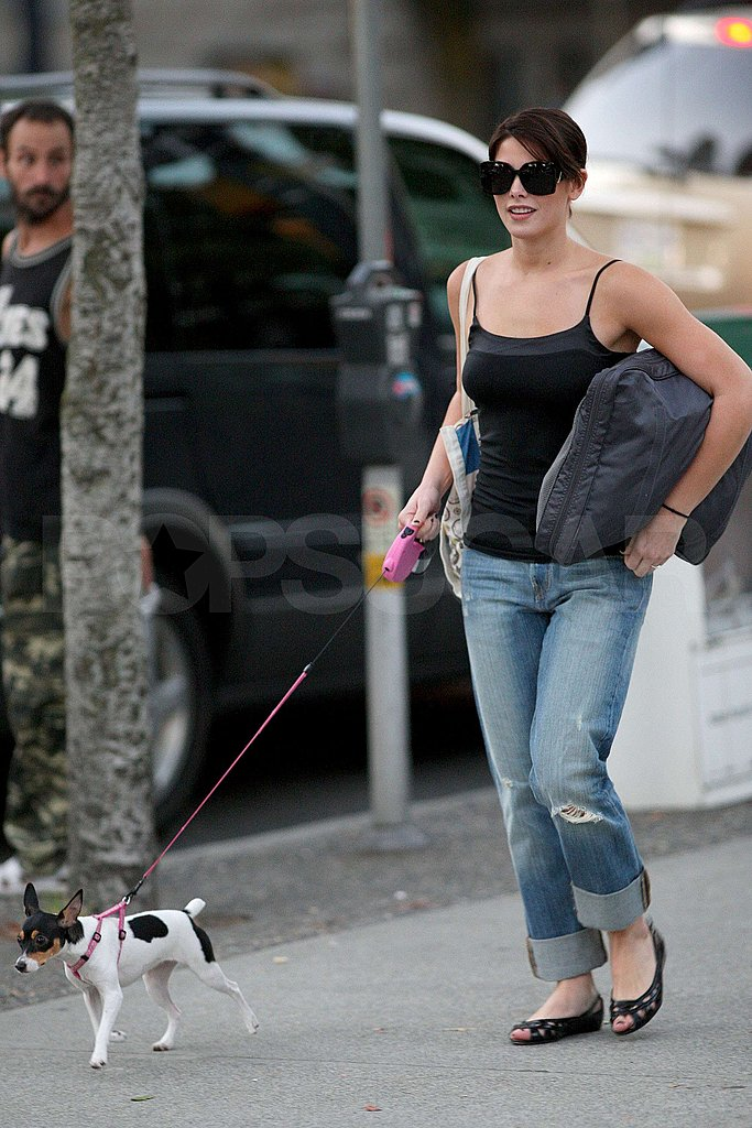 Photos of Ashley Greene Walking Her Dog in Canada