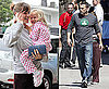 Photos of Ben Affleck in Boston; Jennifer Garner and Violet Affleck Getting Starbucks