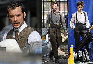 Photos of Robert Downey Jr, Jude Law, Rachel McAdams Filming New Scenes for Sherlock Holmes