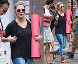 Photos of Drew Barrymore Leaving a Yoga Class in NYC