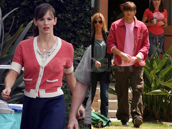Photos of Ashton Kutcher Filming Valentine's Day