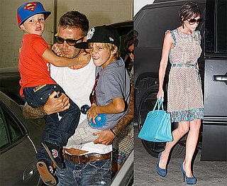 Photos of Victoria Beckham, David Beckham With Their Sons in LA