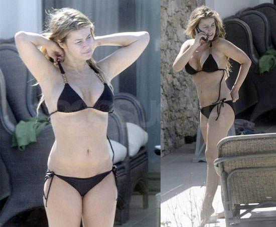 Photos of Carmen Electra in a Bikini Poolside