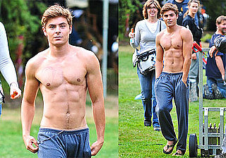 Shirtless Photos of Zac Efron Filming The Death and Life of Charlie St Cloud