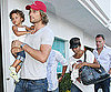 Slide Photo of Gabriel Aubry, Nahla Aubry, Halle Berry at Nobu in LA