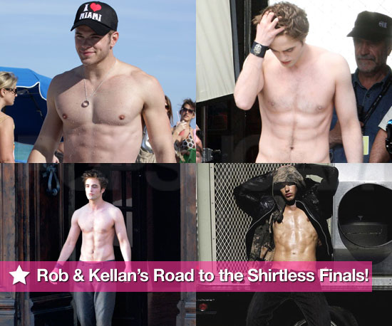 Robert and Kellan's Road to the Shirtless Finals!