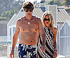 Slide Photo of Rachel Zoe and a Shirtless Rodger Berman on the Beach