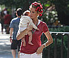 Photo Slide of Kelly Rutherford and Daughter Helena on the Set of Gossip Girl