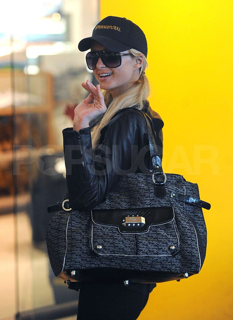 Photos of Paris Hilton Leaving Vancouver, Landing at LAX