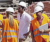 Photo Slide of Brad Pitt on a Construction Site in Spain