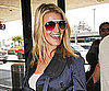 Slide Photo of Jessica Simpson Arriving at LAX in a Blue Trench Coat