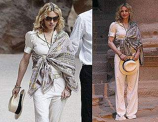Photos of Madonna And Guy Oseary Viewing The Ruins at Petra