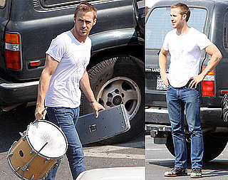 Photos of Ryan Gosling Heading Into Rehearsal For Dead Man's Bones