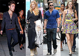 Photos of Blake Lively, Ed Westwick, Leighton Meester, Chace Crawford on the Set of Gossip Girl in NYC