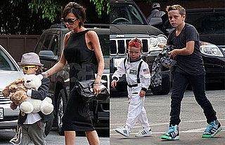 Photos of Victoria Beckham Out To Dinner With Cruz, Romeo, Brooklyn for Romeo's Birthday in LA