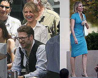 Photos of Cameron Diaz and Seth Rogen Filming The Green Hornet in LA 2009-09-08 14:40:00