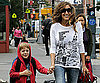 Slide Photo of Sarah Jessica Parker and James Wilkie Walking to School in NYC