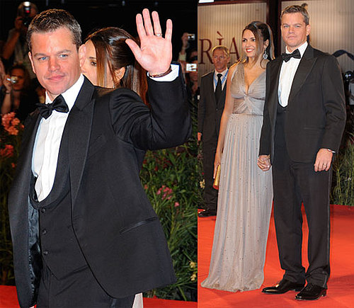 Photos of Matt Damon and Luciana At Venice Film Festival Premiere of The Informant