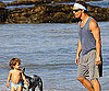 Photo Slide of Matthew McConaughey at the Beach With Levi