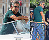 Photos of George Clooney on a Boat at the 2009 Venice Film Festival