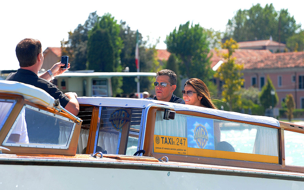 Photos of Matt Damon in Italy