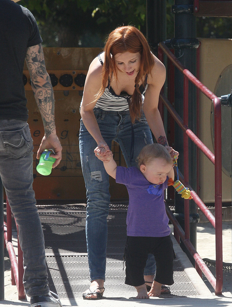 Photos of Ashlee, Pete and Bronx at the Park