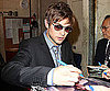 Slide Photo of Chace Crawford Signing Autographs For Fans Outside ABC Studios in NYC